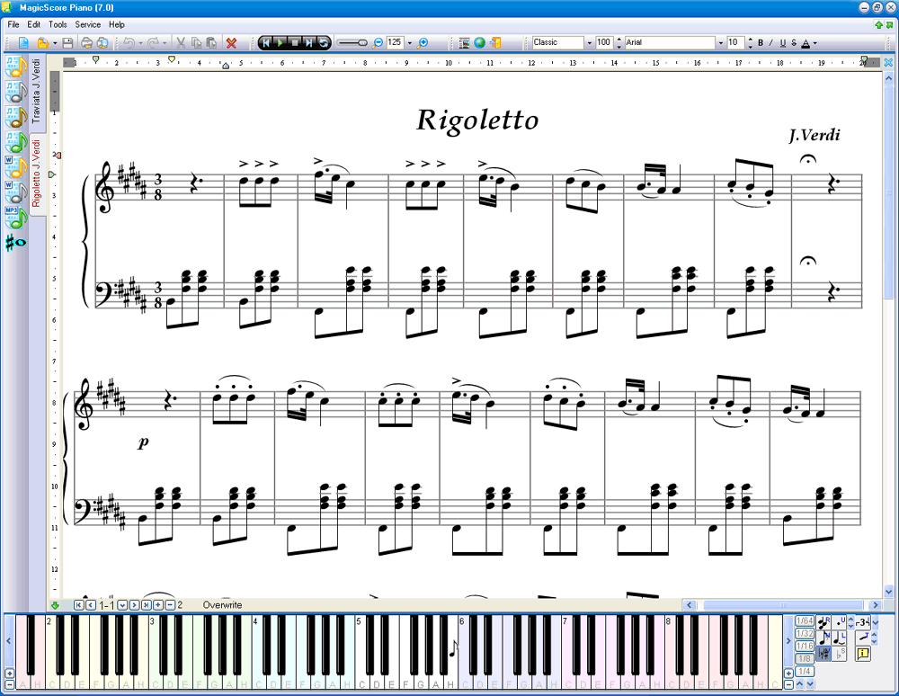 All Music Chords music sheet online free : MagicScore Virtual Piano – Online Piano Keyboard